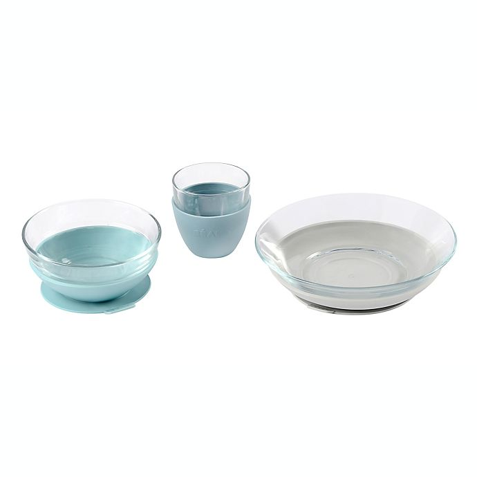 Alternate image 1 for BEABA® Glass Meal Set with Suction