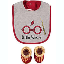 Harry Potter™ Size 0-12M 2-Piece Bib and Bootie Set
