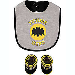 DC Comics™ Size 0-12M 2-Piece Batman Bib and Bootie Set