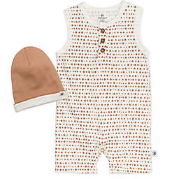 The Honest Company® Size 18M 2-Piece Organic Cotton Dot Romper and Beanie Set in Ivory