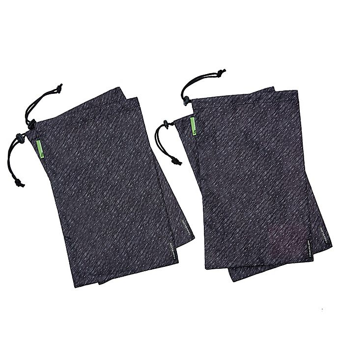 Alternate image 1 for Travelon® Antimicrobial Shoe Bags in Grey (Set of 4)