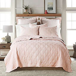 Levtex Home Washed Linen Full/Queen Quilt in Blush