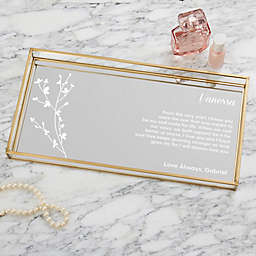 Love Letter Personalized Mirrored Vanity Tray