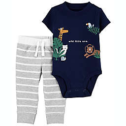 carter's® 2-Piece Wild Little One Bodysuit and Pant Set in Navy