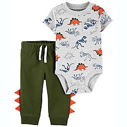 carter's® Newborn 2-Piece Dinosaur Bodysuit and Pant Set in Green