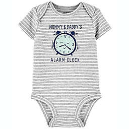carter's® Newborn Alarm Clock Short Sleeve Original Bodysuit in Grey