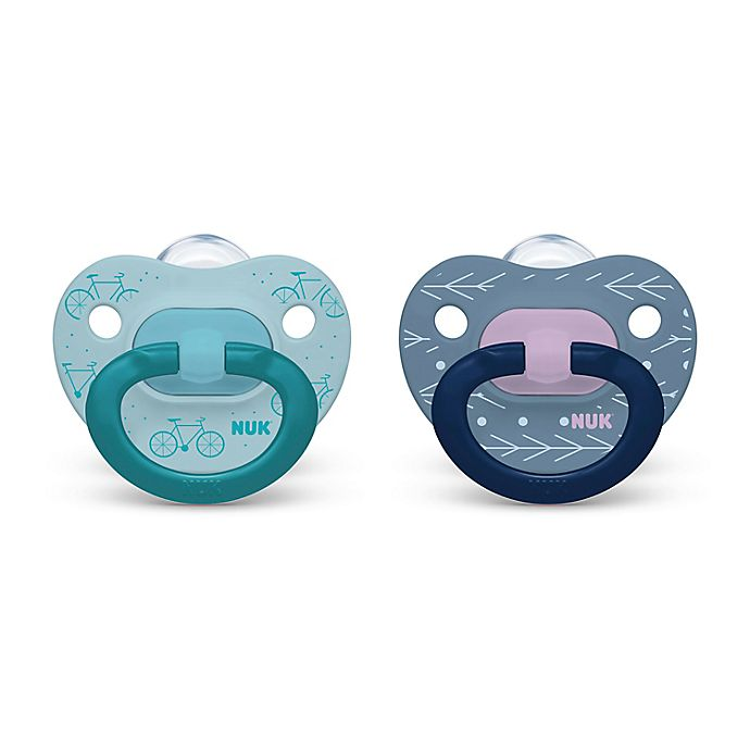 Alternate image 1 for NUK® 18-36M Banner Flags Boy 2-Pack Orthodontic Pacifiers