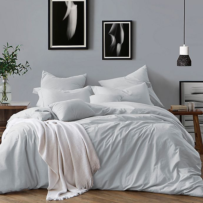 Alternate image 1 for Swift Home Prewashed Yarn-Dyed Cotton 2-Piece Twin Duvet Cover Set in Pale Blue