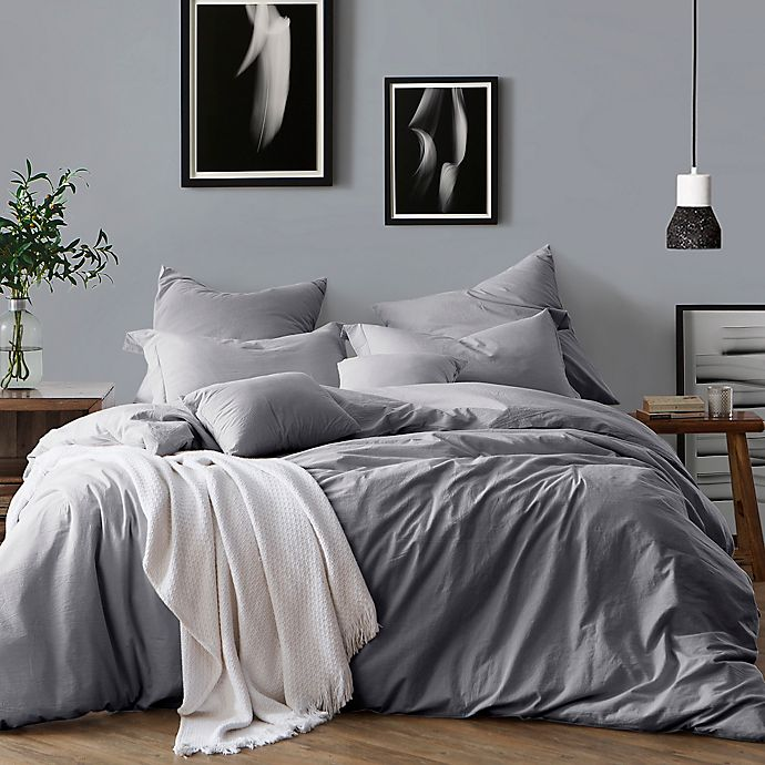 Alternate image 1 for Swift Home Prewashed Yarn-Dyed Cotton 3-Piece Duvet Cover Set