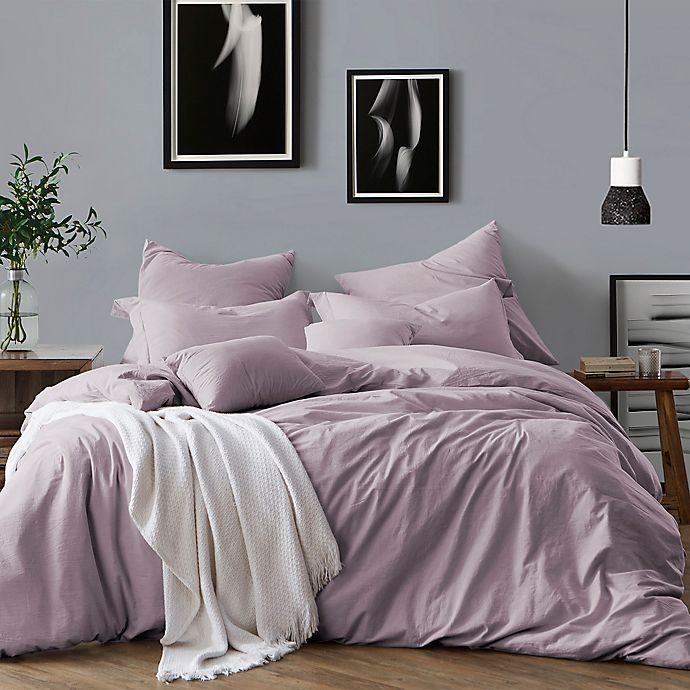 Alternate image 1 for Swift Home Prewashed Yarn-Dyed Cotton 2-Piece Twin Duvet Cover Set in Lavender