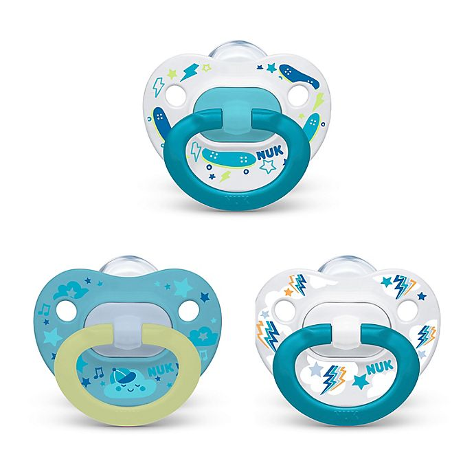 Alternate image 1 for NUK® Boy 6-18M 3-Pack Orthodontic Pacifiers