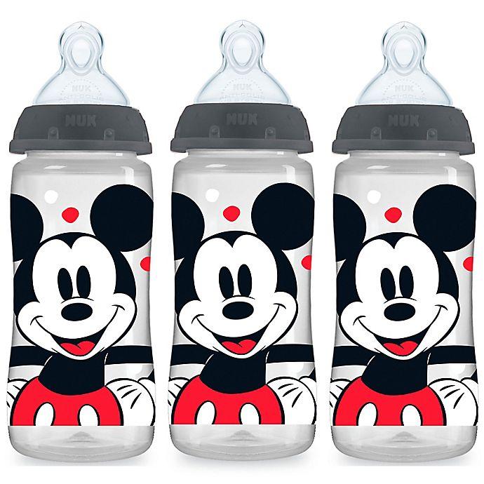 Alternate image 1 for NUK® Smooth Flow Disney Mickey Mouse 3-Pack 10 oz. Bottles