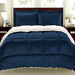 Cathay Home Sherpa Down Alternative 3-Piece Comforter Set