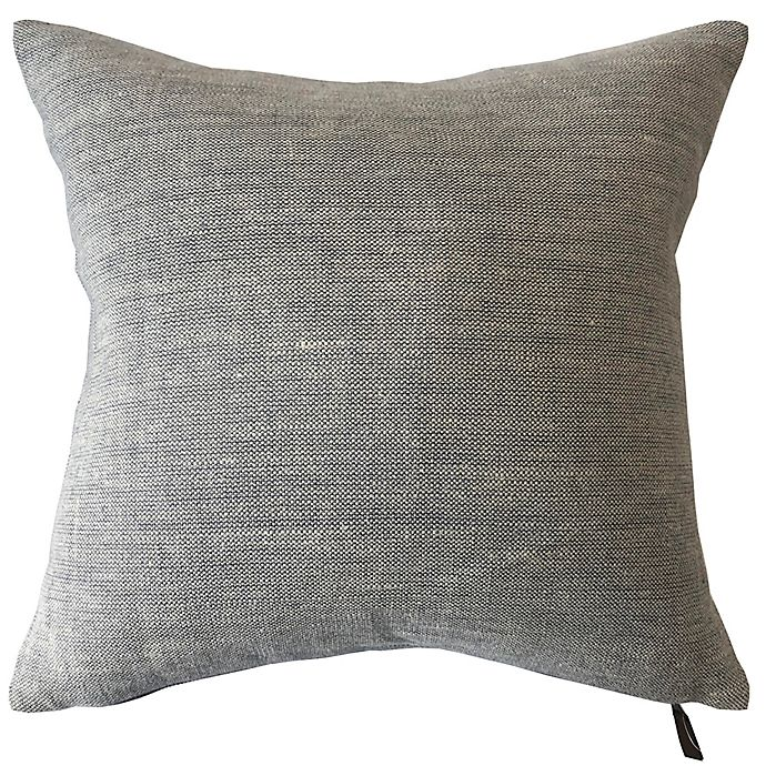 Alternate image 1 for Bee & Willow™ Home Solid Woven Linen Square Throw Pillow in Light Blue