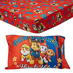 PAW Patrol™ Toddler Fitted Sheet and Pillow Casen in Red
