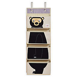 3 Sprouts Bear Hanging Wall Organizer in Black
