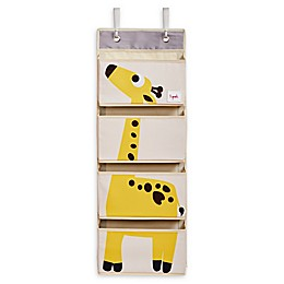 3 Sprouts Giraffe Hanging Wall Organizer in Yellow