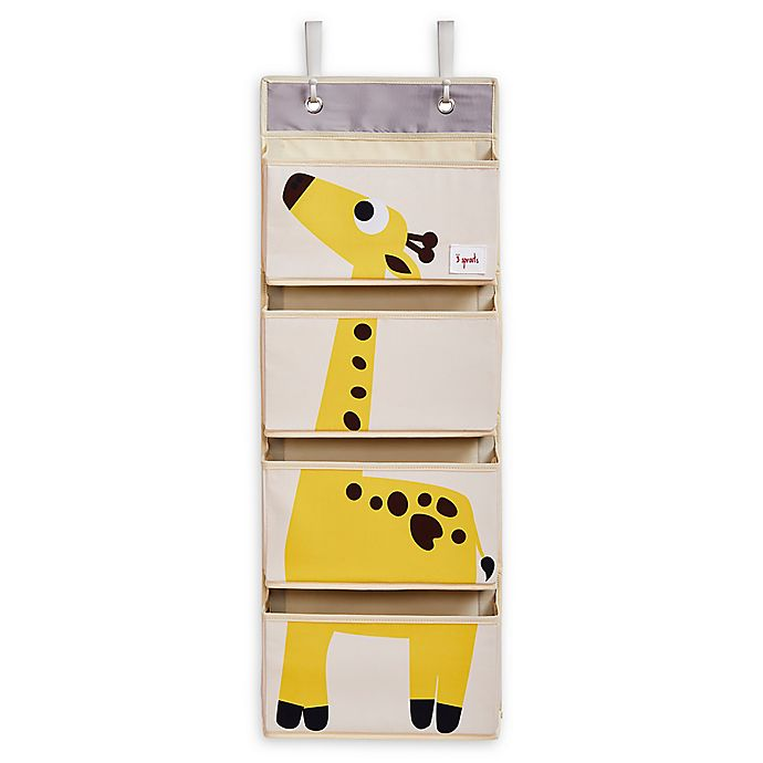 Alternate image 1 for 3 Sprouts Giraffe Hanging Wall Organizer in Yellow
