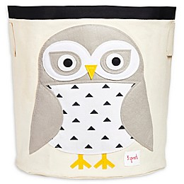 3 Sprouts Snowy Owl Storage Bin