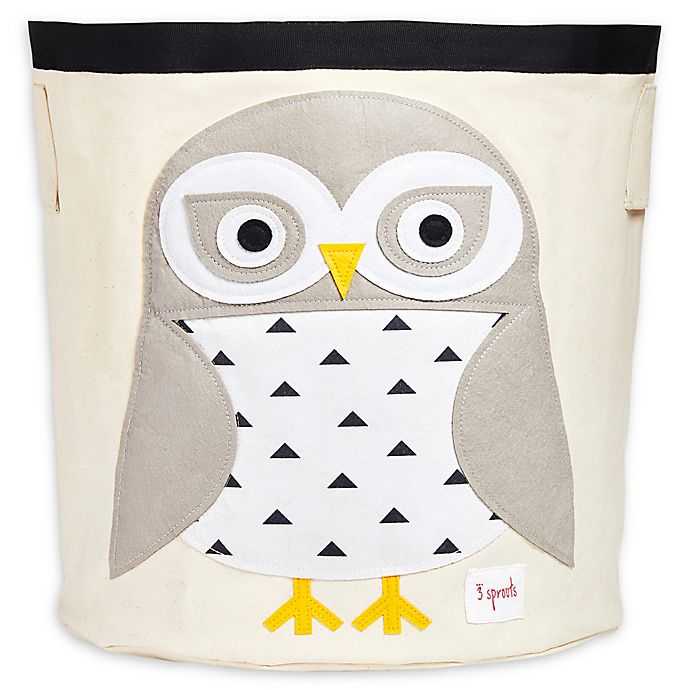 Alternate image 1 for 3 Sprouts Snowy Owl Storage Bin