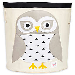 3 Sprouts Snowy Owl Storage Bin in White