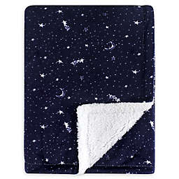 Yoga Sprout Mink Moon Baby Blanket in Blue