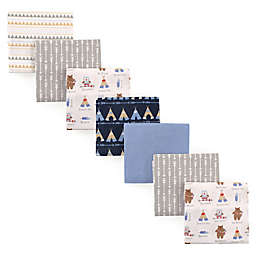 Luvable Friends® 7-Pack Tribe Flannel Receiving Blankets in Blue