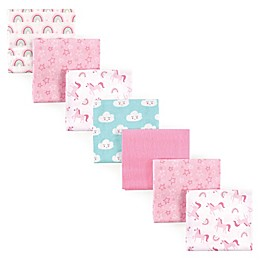 Luvable Friends® 7-Pack Rainbow Flannel Receiving Blankets in Pink