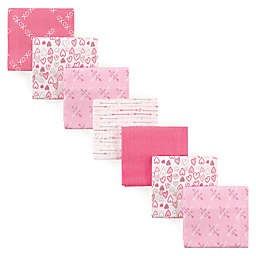 Luvable Friends® 7-Pack Love Flannel Receiving Blankets in Pink