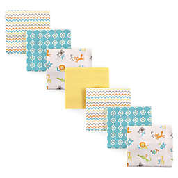 Luvable Friends® 7-Pack ABC Flannel Receiving Blankets in Green