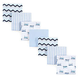 Luvable Friends® 7-Pack Train Flannel Receiving Blankets in Blue