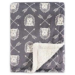 Hudson Baby® Mink Hedgehog Baby Blanket in Grey