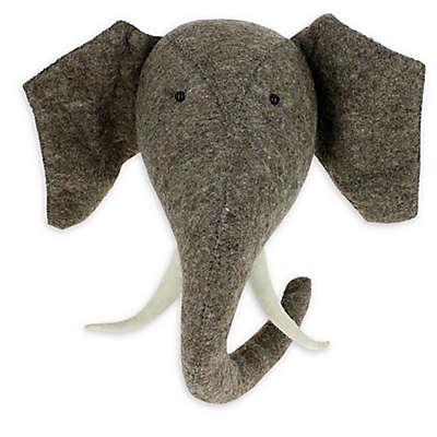 Fiona Walker Rainbow Elephant Head with Tusks 24-Inch x 12-Inch Plush Wall Décor