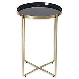Ren-Wil® Aspen Enamel Accent Table in Brass
