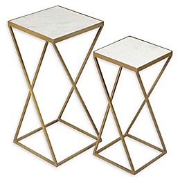Ren-Wil® Darby Accent Tables in Gold (Set of 2)