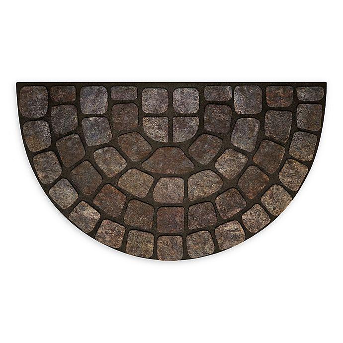 Achim Stone Slice 18 Quot X 30 Quot Raised Rubber Door Mat In Grey