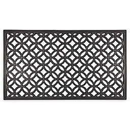 "Entryways Circle Chains 16"" x 28"" Recycled Rubber Door Mat"