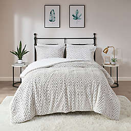 Madison Park Adelyn Ultra Plush 2-Piece Twin/Twin XL Comforter Set in Ivory