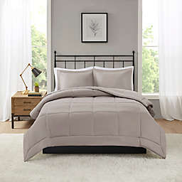 Madison Park Microcell Down Alternative Full/Queen Comforter Set in Taupe