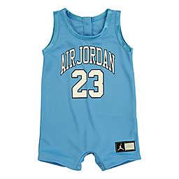 "Jordan® Size 9M ""Air Jordan"" Jersey Tank Romper in Light Blue"