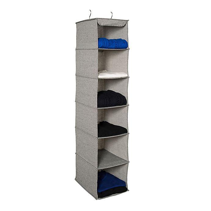 Alternate image 1 for Squared Away™ Arrow Weave 6-Shelf Hanging Organizer
