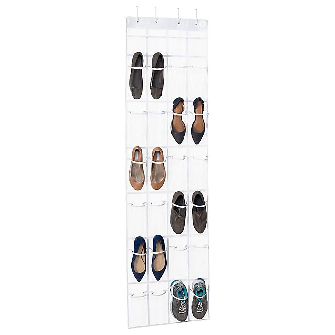 Alternate image 1 for Simply Essential™ 24-Pocket Over-the-Door Shoe Organizer