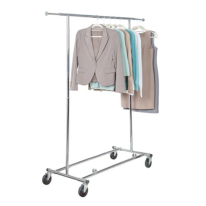 Alternate image 1 for Simply Essential™ Commercial Grade Single Bar Adjustable Garment Rack