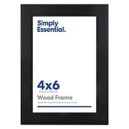 Simply Essential™ Gallery 4-Inch x 6-Inch Wood Picture Frame in Black