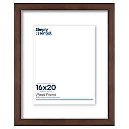 Simply Essential™ Gallery 16-Inch x 20-Inch Floating Wood Wall Frame in Walnut