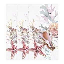 Watercolor Shells 32-Count Paper Guest Towels