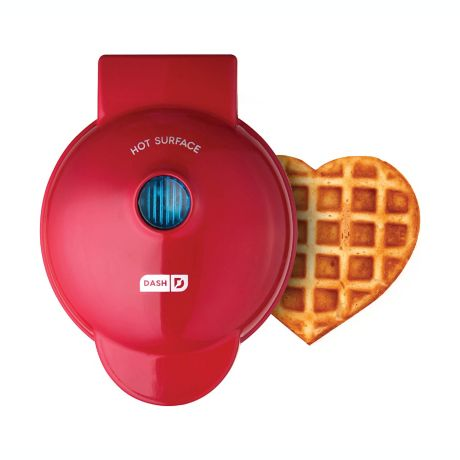 Dash Heart Mini Waffle Maker In Red Bed Bath And Beyond Canada