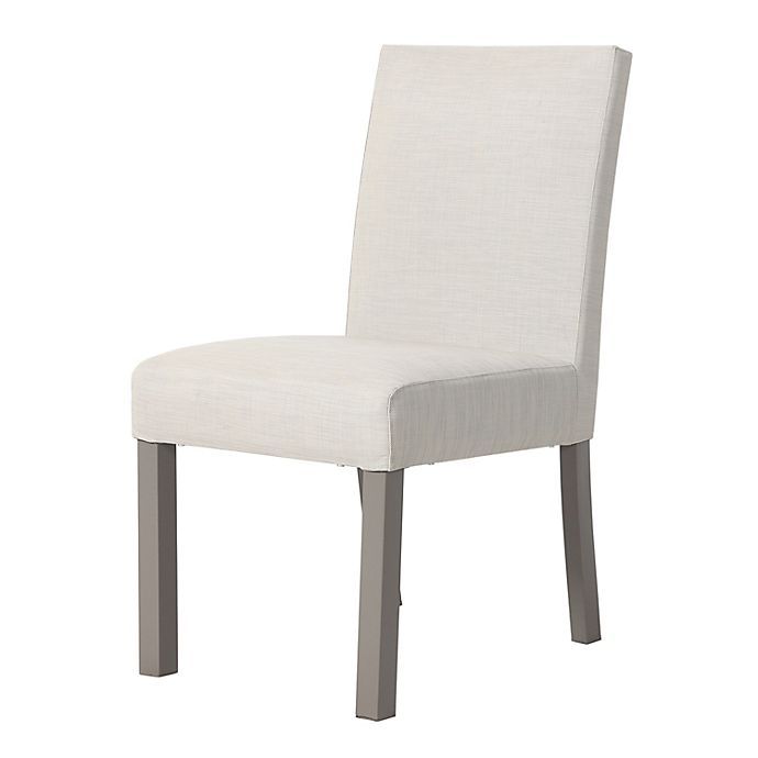 Alternate image 1 for Bee & Willow™ Home Amesbury All-Weather Upholstered Oudoor Dining Chairs in Linen (Set of 2)