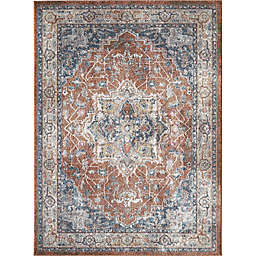 Saxon 7'10 x 9'10 Area Rug in Red/Blue