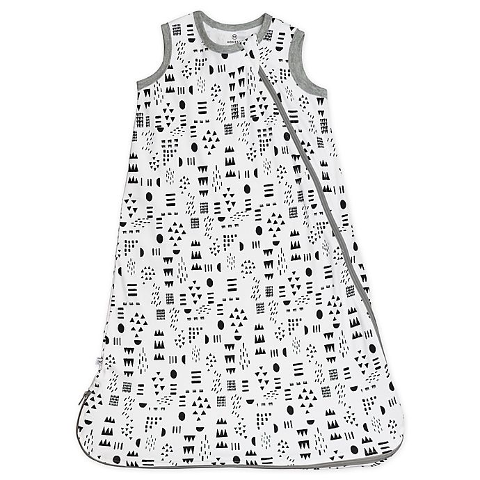 Alternate image 1 for The Honest Company® Medium Classic Wearable Blanket in White/Black Play